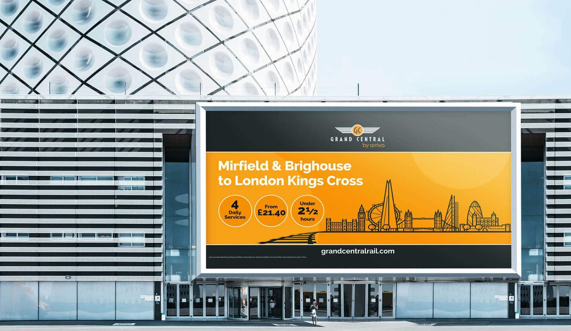 Grand Central digital design on billboard