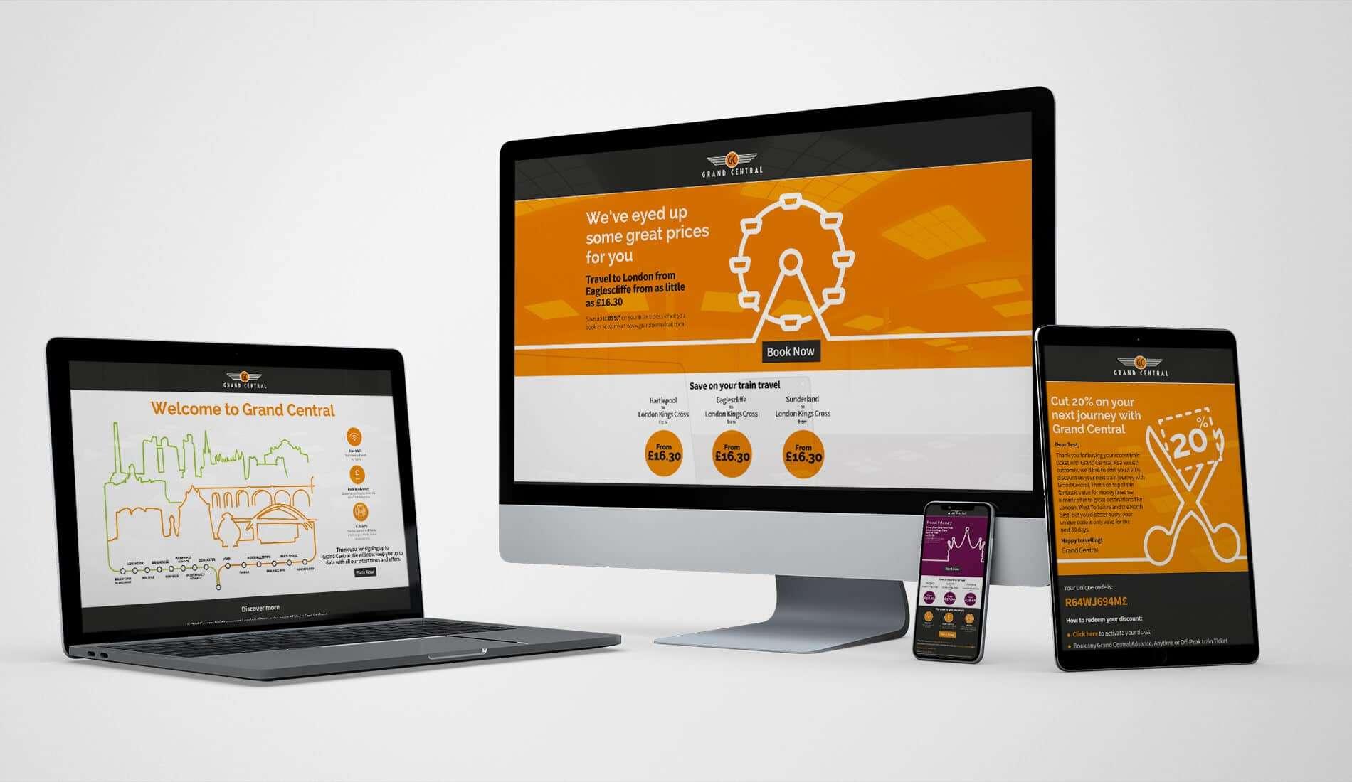 Grand central digital marketing campaigns