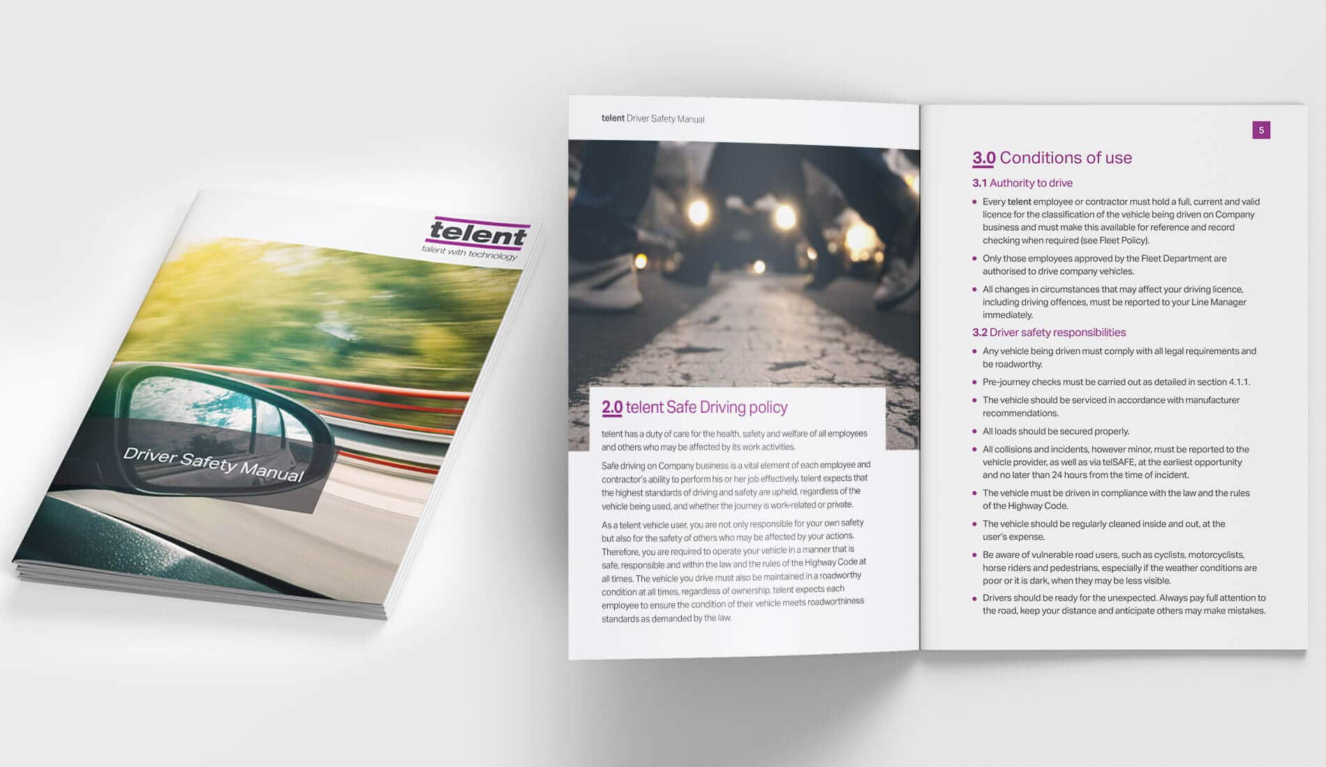 Telent Driver Safety Manual design
