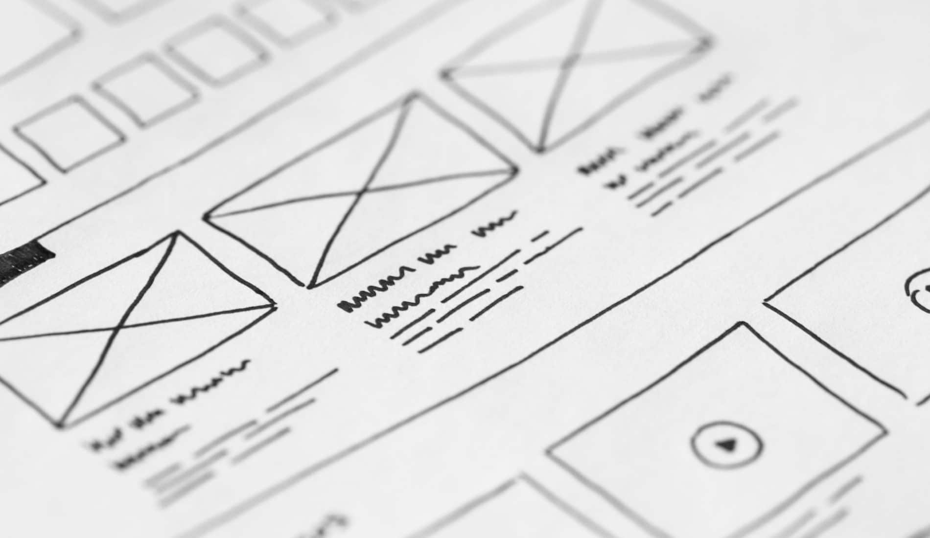 Wire framing a web design