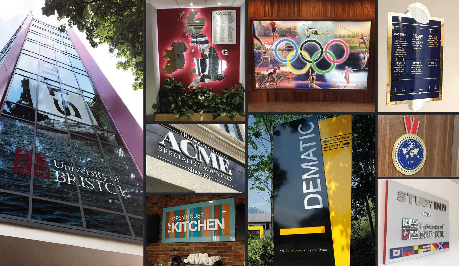 Examples of Creative Touch Design signage in situe