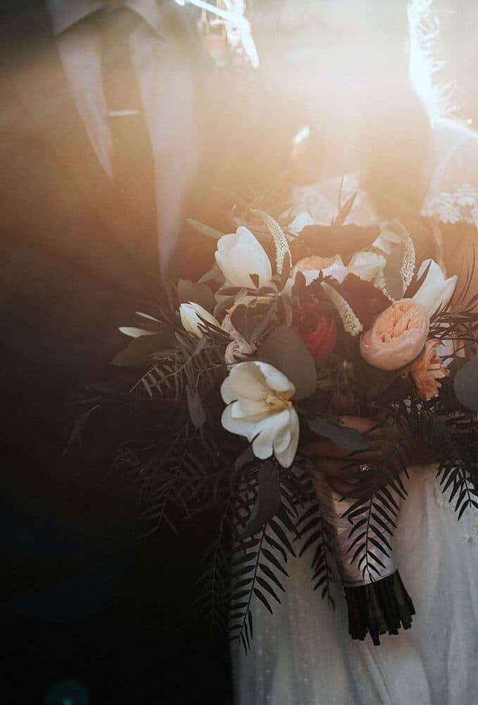 Perfect Brides Wedding photo with flowers