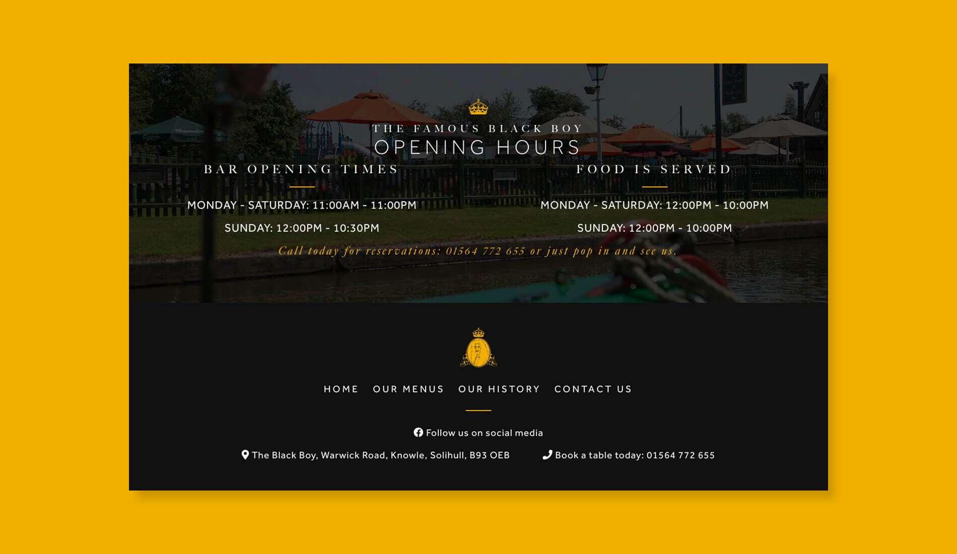 Blackboy website design on coloured background