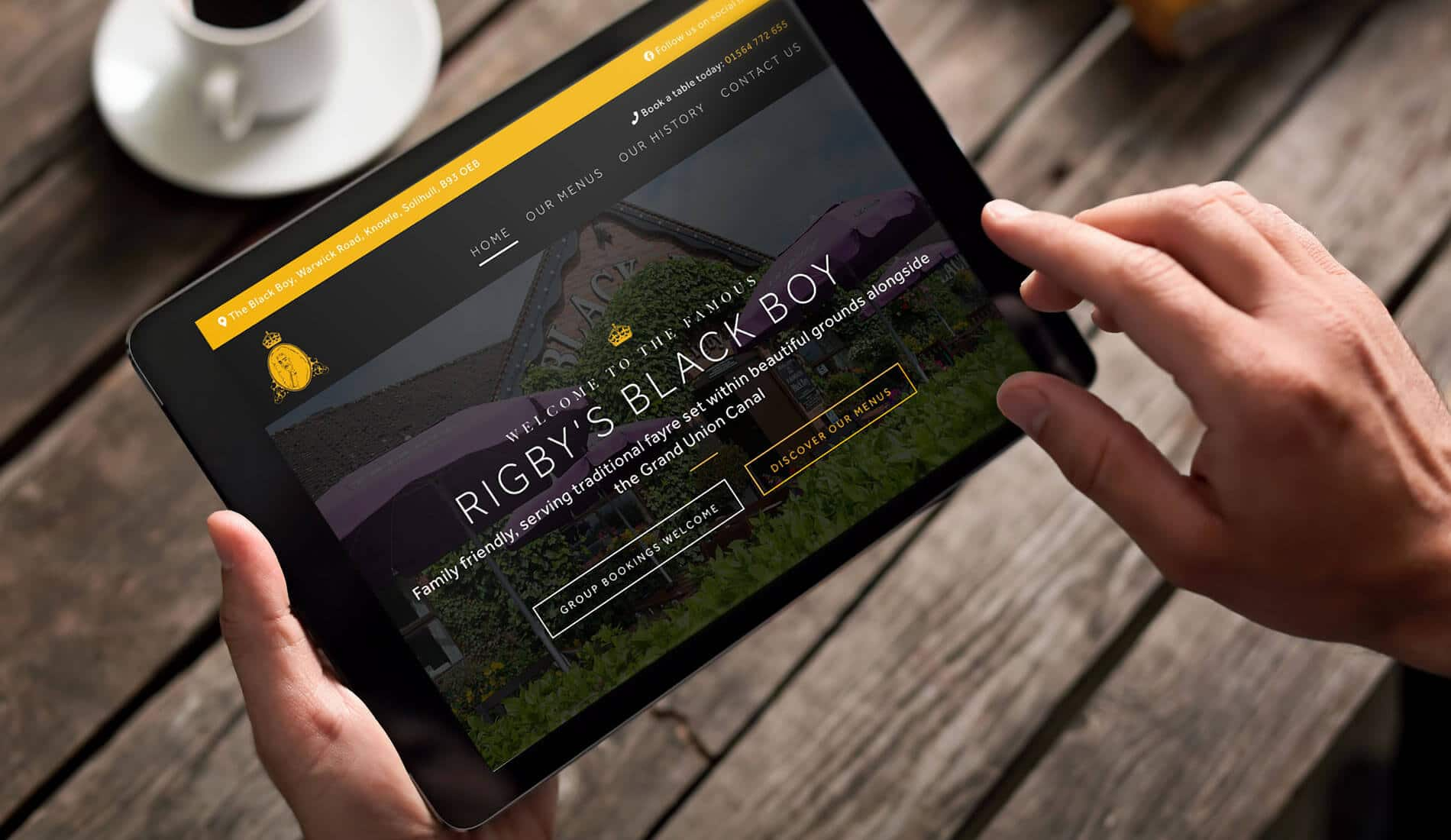 Blackboy website bespoke website design on ipad