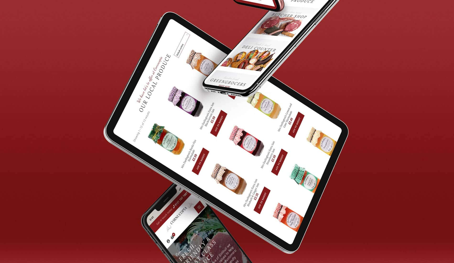 Cornucopia website on various devices
