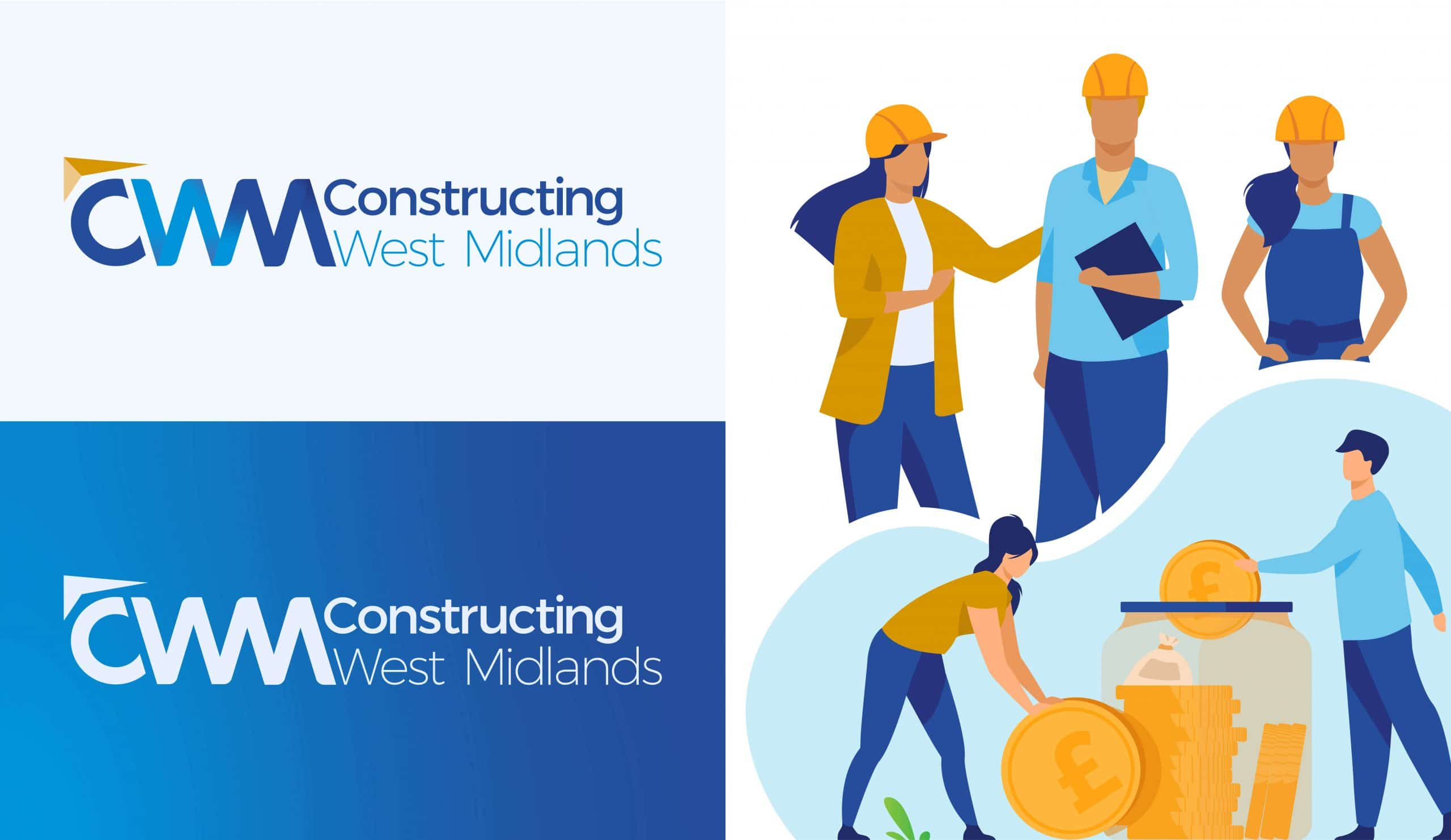 Constructing West Midlands Logo with illustrations