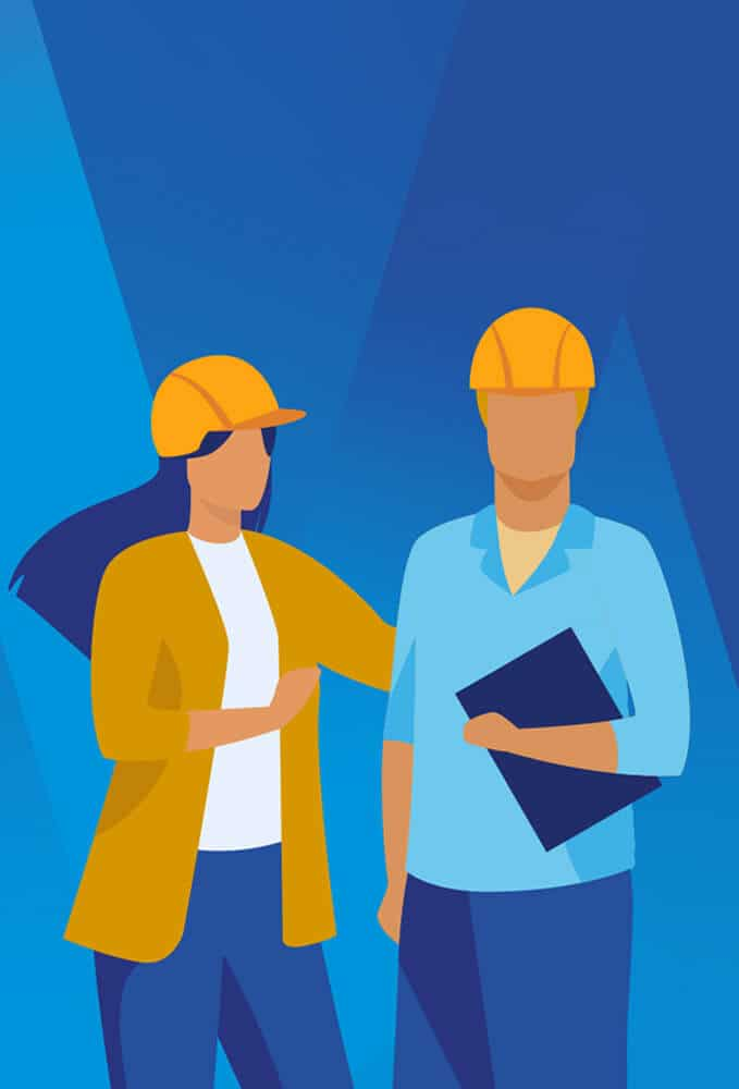 Constructing West Midlands illustration on blue gradient background