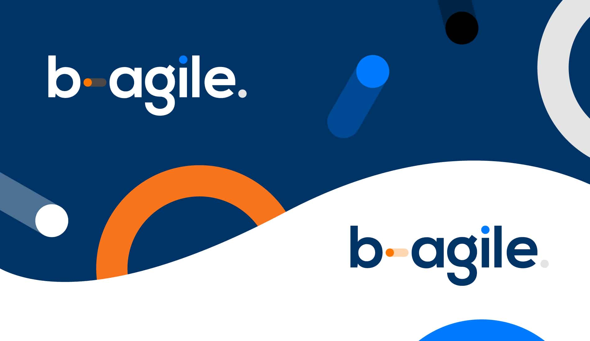 Bagile logos on background