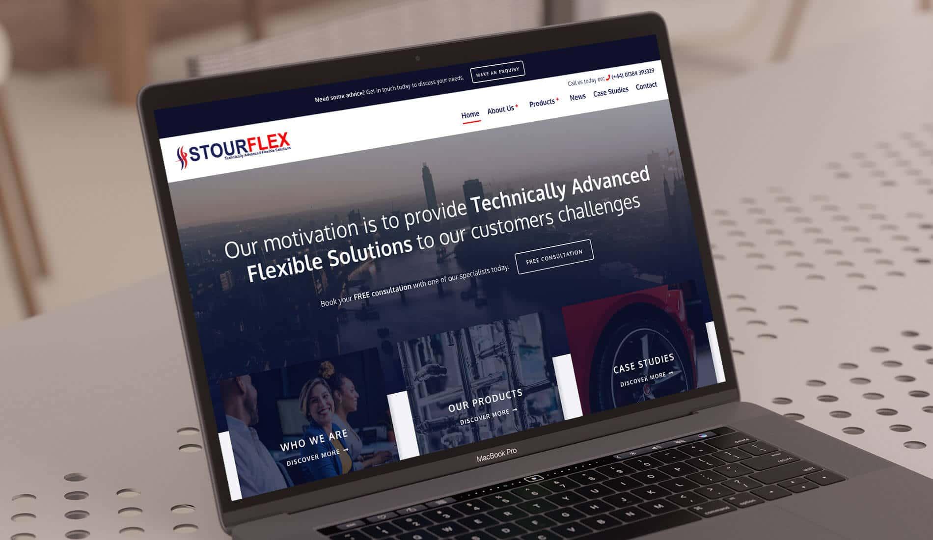 Stourflex website on mackbook pro
