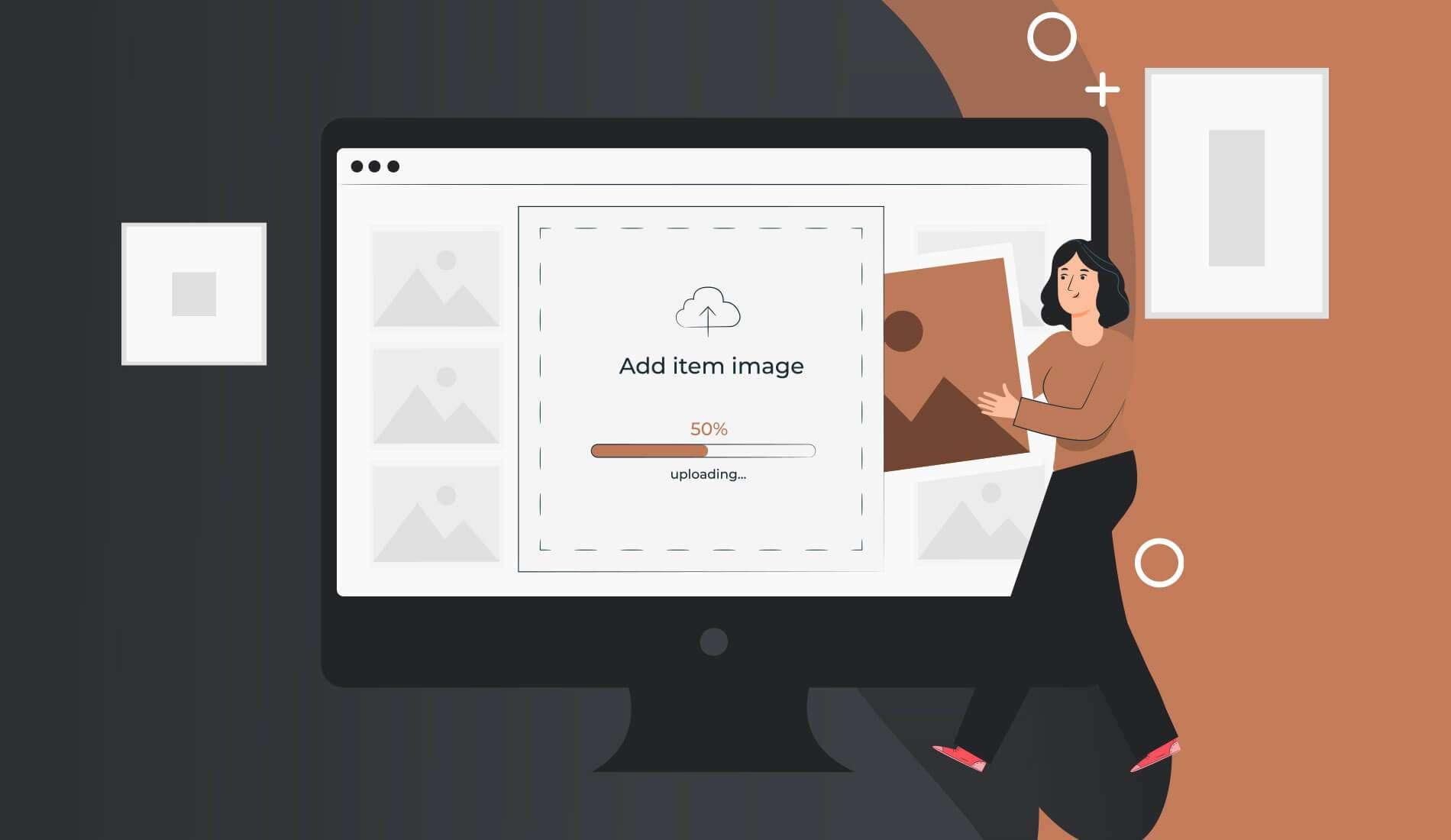 Uploading correct image size to a website illustration